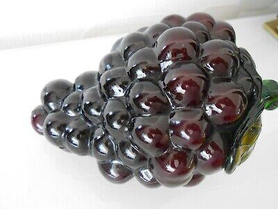 Kraftvoll Glaskunst Apfel / Weintrauben / Schweden ? / Murano ? / Mundgeblasen 320 G