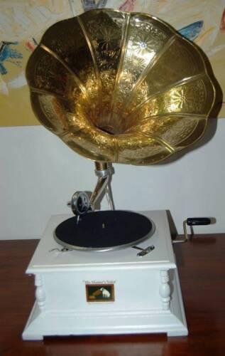 """Grammofono a manovella  stile /""""shabby chic/"""" per un regalo elegante e importante."""