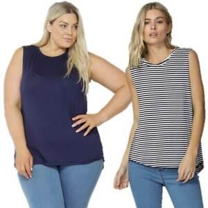 Betty-Basics-Capri-Tank-Top-Plus-Size-10-12-14-16-18-20-22-Muscle-Tee-T-Shirt
