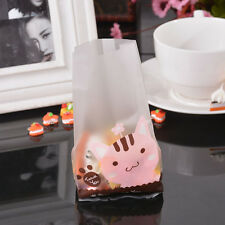 50pcs Cute Cookie Biscuit Plastic Gift Bags Sweet Candy Self-adhesive Party Bags