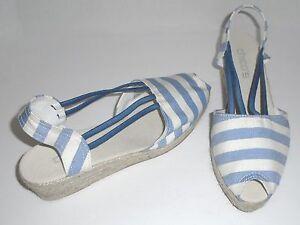 CHICO'S ?タ? SHOES ESPADRILLES - JESSA BLUE & WHITE STRIPE ?タ? SZ 11 (9? to 10) - NEW