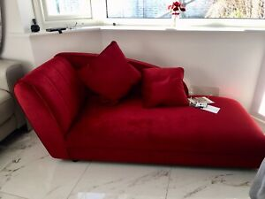 Awesome Details About Sale Harveys Bold By Louise Chaise Longue Chair Luxe Red Velvet Designer Sofa Customarchery Wood Chair Design Ideas Customarcherynet
