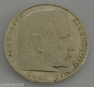 Drittes-Reich-5-Reichsmark-Silbermuenze-1935-G-Hindenburg