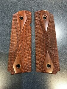 Colt-Government-Commander-Gold-Cup-Pistol-Grips-Pistol-Stocks-Brown-Wood