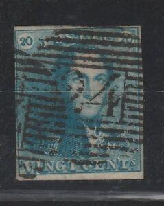 FRANCOBOLLI-1849-BELGIO-C-20-AZZURRO-LEOPOLDO-I-Z-9289