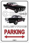 Parking Sign Metal MUSTANG CONVERTIBLE 1965 - 06 Black