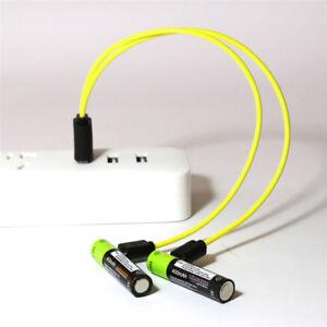 2pcs ZNTER 1.5V AAA 400mAh LiPo li-ion lithium rechargeable battery USB charging