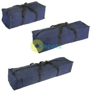 Heavy-Duty-Cotton-Canvas-Tool-Bag-Strong-Handles-Zip-3-Sizes-460mm-620mm-760mm