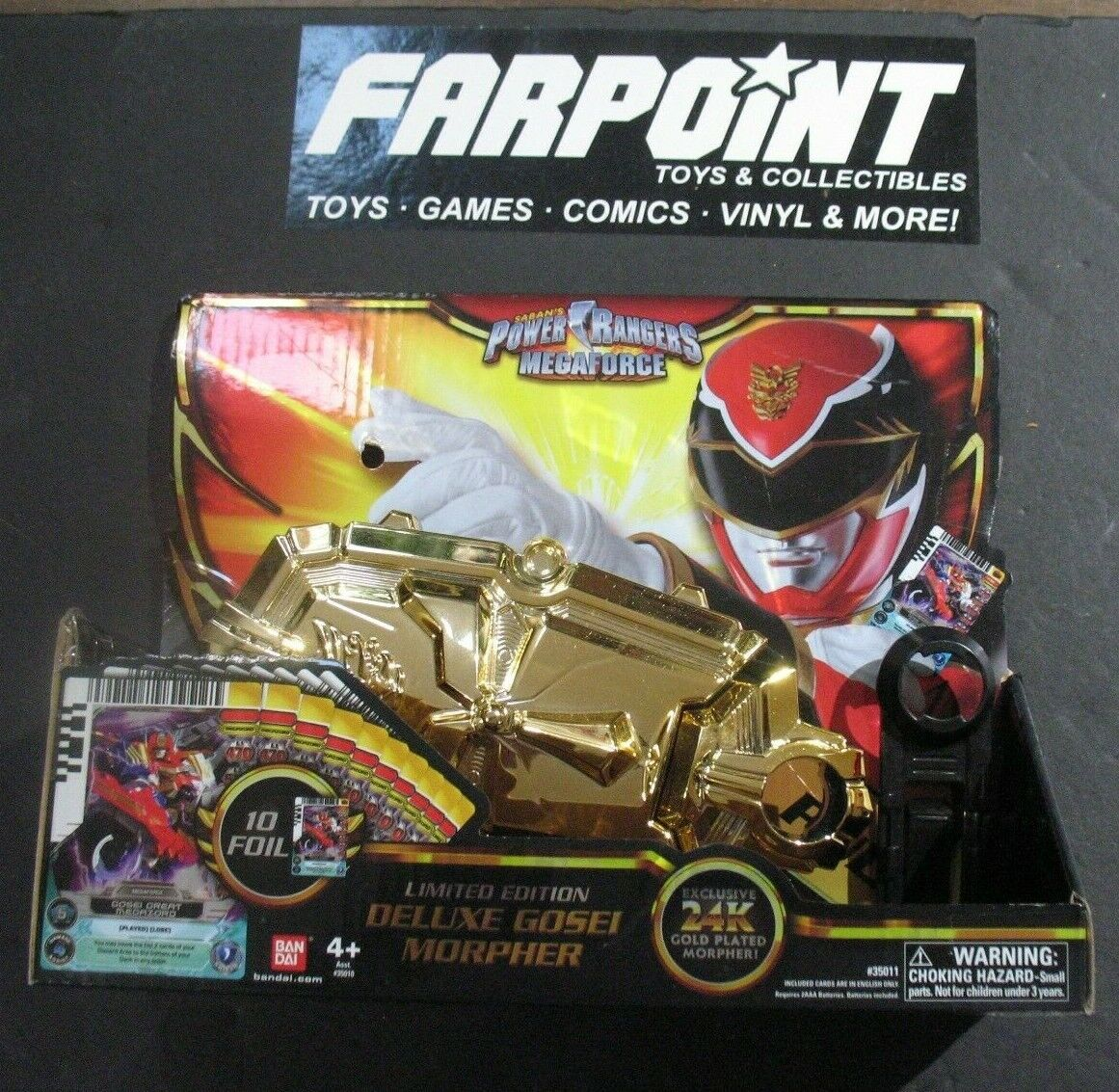Mighty Morphin Power Rangers Mega Force MMPR Deluxe Gosei Morpher gold SDCC 2013