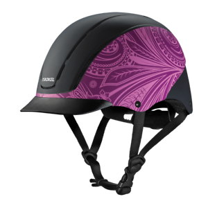Troxel Riding Helmet Spirit Purple Boho Horse Safety Low Profile Medium