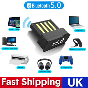 DC5V Bluetooth 5.0 Adapter 2.4GHz Wireless USB Dongle For Windows 7//8//10 Laptop