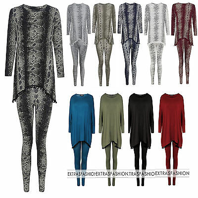 100% QualitäT Women's Ladies Snake Skin Print Pom Pom Loungewear Set Joggers Tracksuit Pants Reichhaltiges Angebot Und Schnelle Lieferung