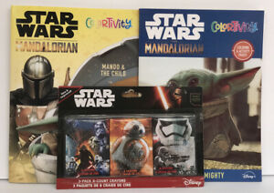 2-Star-Wars-Mandalorian-Baby-Yoda-Coloring-Activity-Books-3pk-Crayons-The-Child