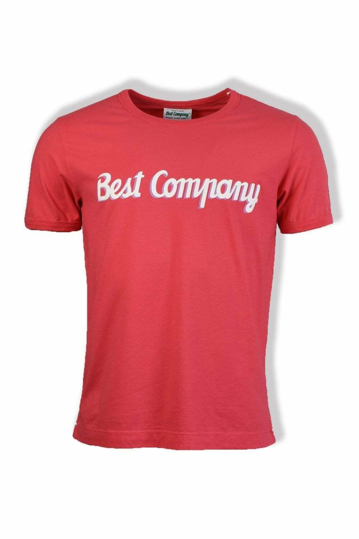 BEST Company di base a Maniche Corte T-Shirt (Rosso)