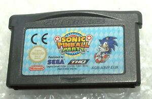 Sonic-Pinball-Party-VideoGioco-Videogame-Nintendo-Game-Boy-Advance-Sega-Used