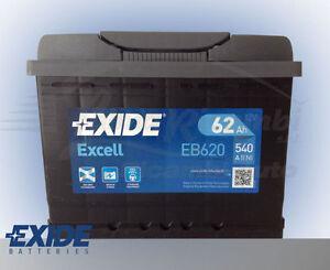 BATTERIA-PER-AUTO-EXIDE-EXCELL-62AH-540EN-DI-SPUNTO-12V-OEM-EB620-POSITIVO-DX