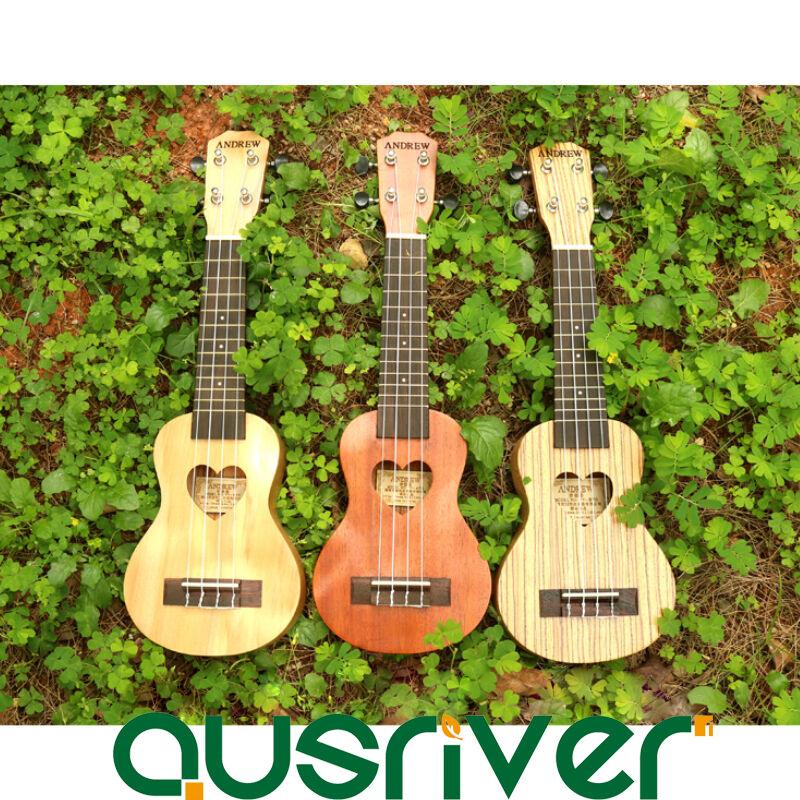 Brand New Wooden Pocket Ukulele Mini Four String Hawaiian Guitar Beginner Geschenk
