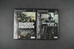 Tom Clancys Ghost recon and Splinter Cell Lot PS2 Playstation 2