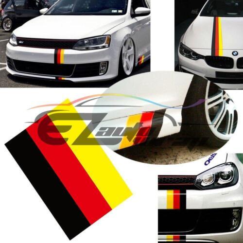 "3/""x59/"" Germany Flag Stripe Decal Stickers For Audi BMW Mercedes MINI Porsche VW"