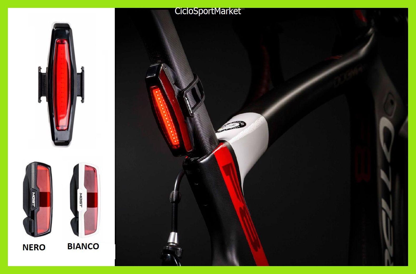 Scheinwerfer Licht Fahrrad Hinten Pinarello Most 2018 16 LED Ultra Glänzend