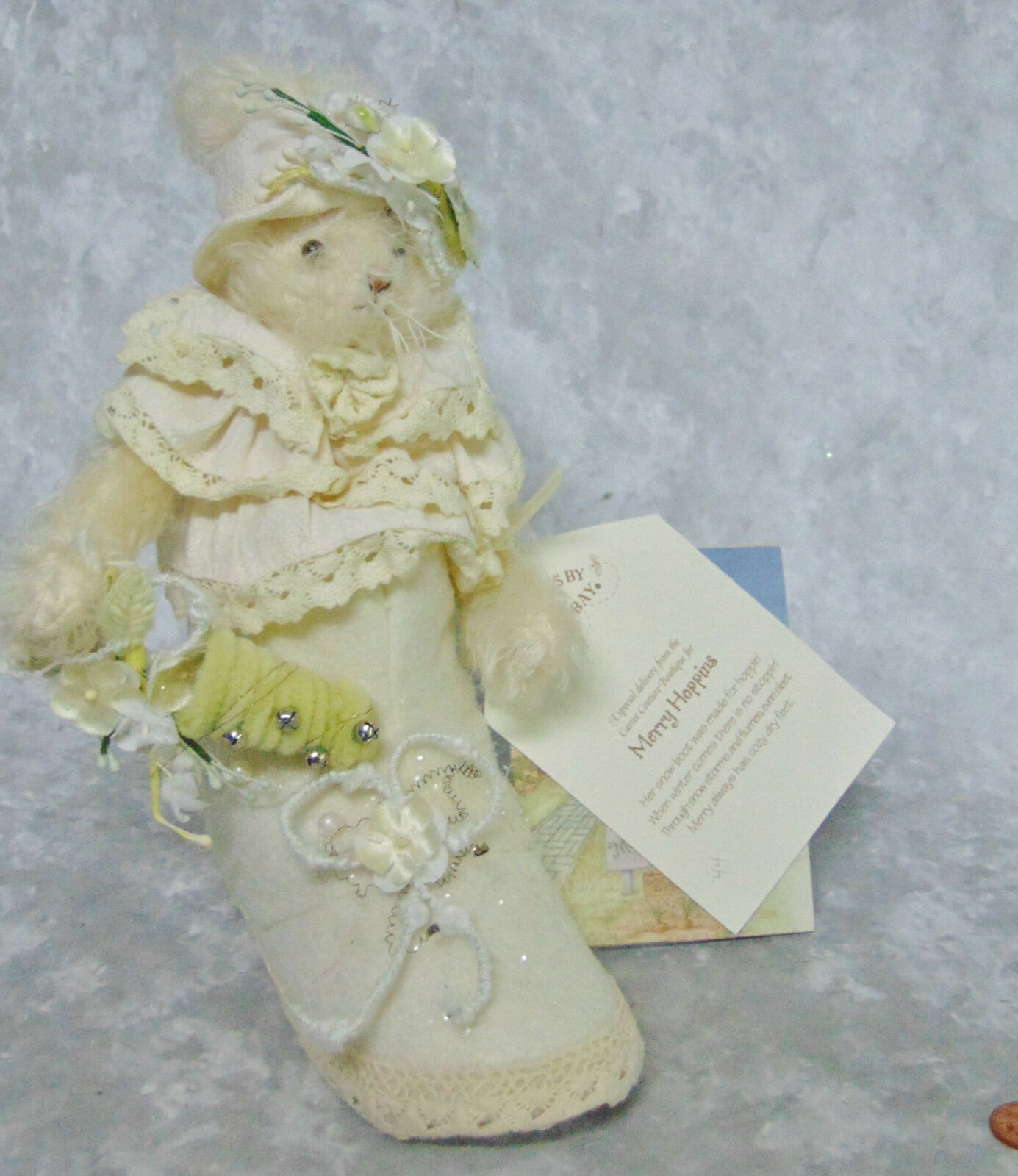 NEW Bunnies By The Bay Mohair MERRY HOPPINS Mohair Bay Bunny Rabbit Snow Stiefel Lace Schuhe LE f9ee26