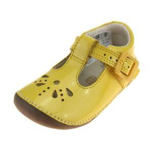 d9c322c6b0d06 Image is loading Clarks-Little-Weave-Infant-Girls-Yellow-Patent-Shoe