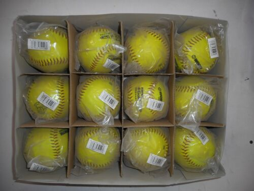 Worth ProTac Super Gold Dot C-Loc Comp Red Stitch Softball ASA Cert  1 DOZ//BOX