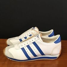 (11.5M) Deadstock JC PENNEY White Blue Basketball Shoes JCP Stripes