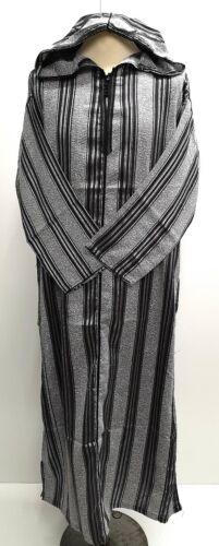 Men Moroccan cotton long sleeves hooded thobe//jalabiya.jubba.thobes.size 54/&56