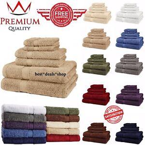 Brown Superior Premium 900 GSM 100/% Cotton Luxury Bathroom 6-Piece Towel Set