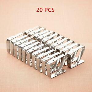 20 PCS Stainless Steel Tablecloth Table Cover Clamps Clips Holders Party Picnic