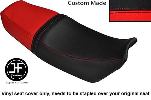 BLACK AND RED VINYL CUSTOM FITS HONDA VTZ 250 MC15 DUAL SEAT COVER ONLY