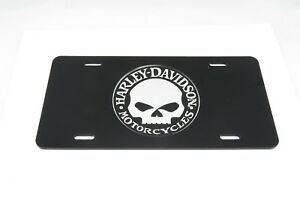 Harley Davidson Willie G Skull Acrylic Inlay Car License Plate Sign Tag