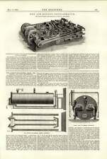 1891 Linde aire seco dúplex Refrigerador Ackroyd Willoughby humo Preventor