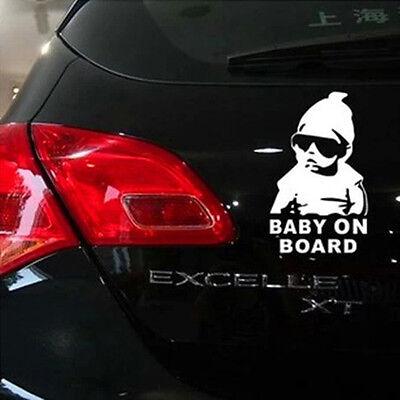 Baby on Board Scar vinyl sticker decal Decorative sticker Silver-White