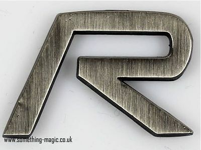 NEW gunmetal VOLVO R enamel Car Badge T5 XC90 V70