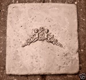 Ange Cherubs Travertine Tile Mold 6 X 6 X 13 Reusable Cement