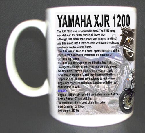 YAMAHA XJR 1200 CLASSIC MOTORBIKE MUG LIMITED EDITION.