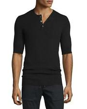 VME058 NWT VINCE RIBBED WOOL SILK HENLEY MEN SHIRT SIZE S $265