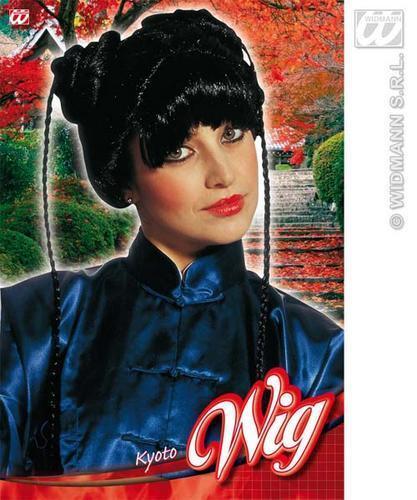 Ladies Black Japanese Wig Oriental Asian Fancy Dress