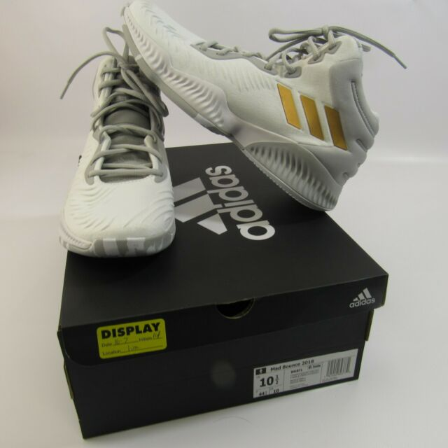3f01643974101 adidas Mad Bounce 2018 Basketball Shoes Men s Size 10.5 White W  Gold  Stripes for sale online