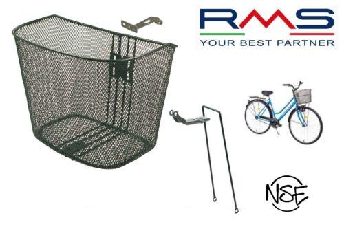 Cestino Universale RMS in Metallo Nero completo d Attacchi per Bici 20-24-26-28