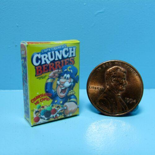 Dollhouse Miniature Replica box of Cap/'n Crunch Crunch Berries Cereal ~ G025