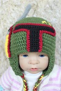 Handmade Star Wars Hat Boba Fett Hat Knit Hat Crochet Hat Baby Hat