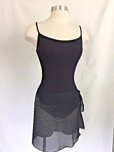 Size XL Dasha Designs Ladies Sheer Sarong Ballet Skirt w// Crystals NWT