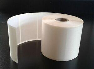 1000 Blanc 76 Mm X 51 Mm Blanc Stickers Autocollante Plain Sticky Labels-afficher Le Titre D'origine
