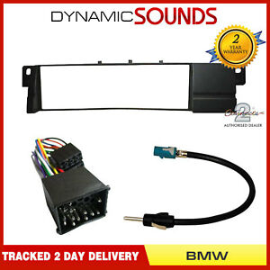 Car-CD-Stereo-Radio-Fascia-ISO-Aerial-Fitting-Kit-For-BMW-3-Series-E46-1999-2004
