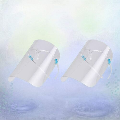 2 sets Face Shield Protection Cover Guard Reusable Transparent Strong Protector
