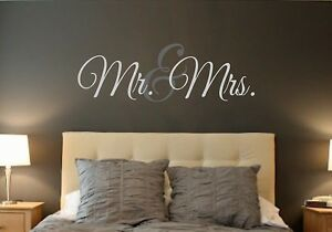 Mr. & Mrs.-LARGE-Vinyl Wall Decal-Wall Quotes-Words- Wall Monogram ...