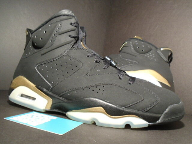 2005 Nike Air Jordan VI 6 Retro DMP noir GOLD DEFINING MOMENTS 136038-071 DS 13